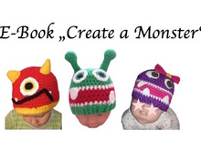 "E- Book Mütze ""create a monster"" KU 36-53"
