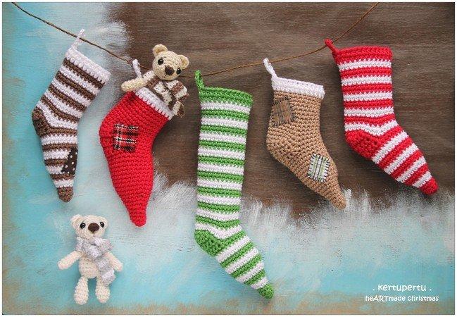 Weihnachts-Socken / Nikolaus-Socken häkeln ☆