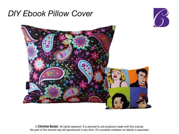 Diy Book Cover With Zipper : E book tutorial pillow cover with zipper pdf