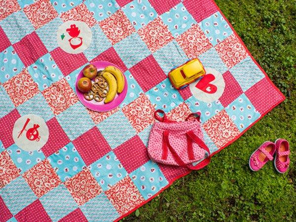 Top Patchwork-Decke aus Quadraten selber nähen ☆ UZ39