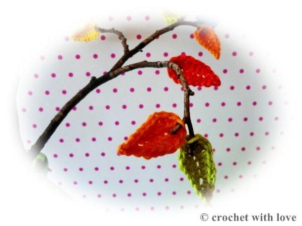 Herbstdeko Selber Machen Kostenlos : Gehäkelte Blätter, Herbstdeko ...