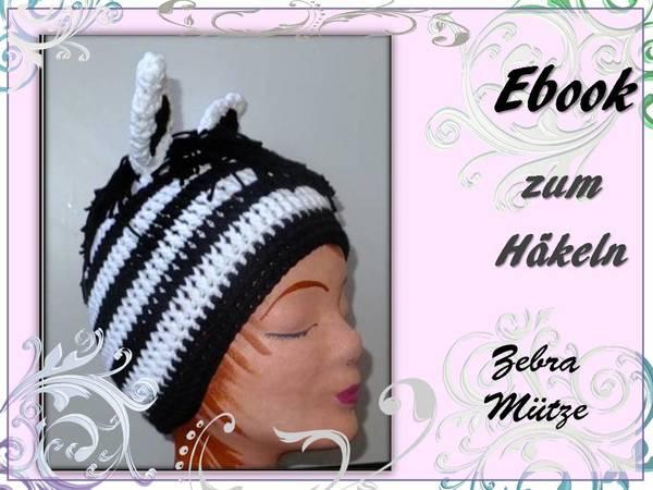 Mütze Zebra-Style selber häkeln - DIY-PDF