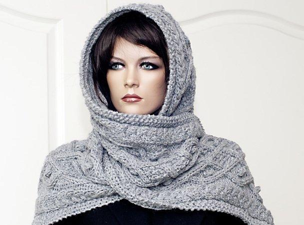 Kapuzenschal jetzt selber stricken - DIY Schal