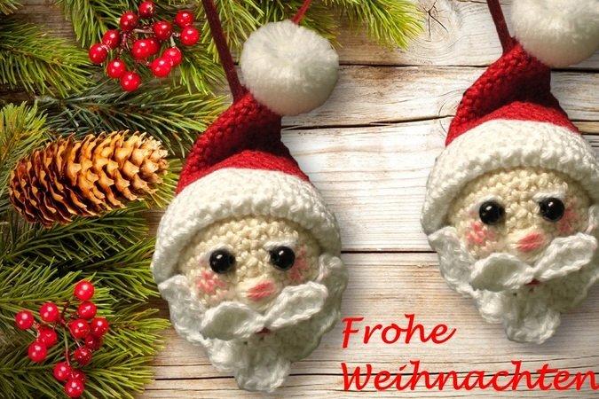 Weihnachtsmann Als Anhänger Häkeln Diy Deko
