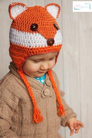 Mütze Fuchs Design Häkeln Für Babys Kinder