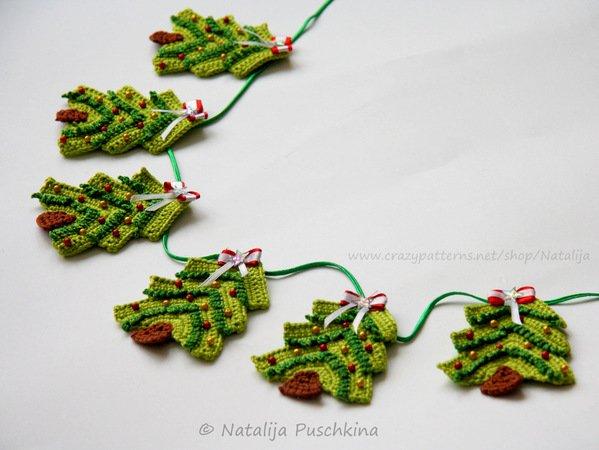 Weihnachtsbaum Girlandeanhänger Diy Häkeln