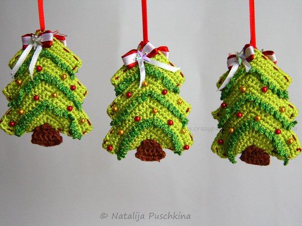 Weihnachtsbaum Girlande/Anhänger-DIY häkeln ☆