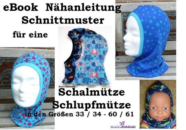 Beliebt E-Book / Nähanleitung für Schalmütze / Schlupfmütze XI71