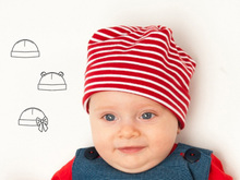 BUBU Easy Baby Hat sewing pattern pdf  for Boy + Girl