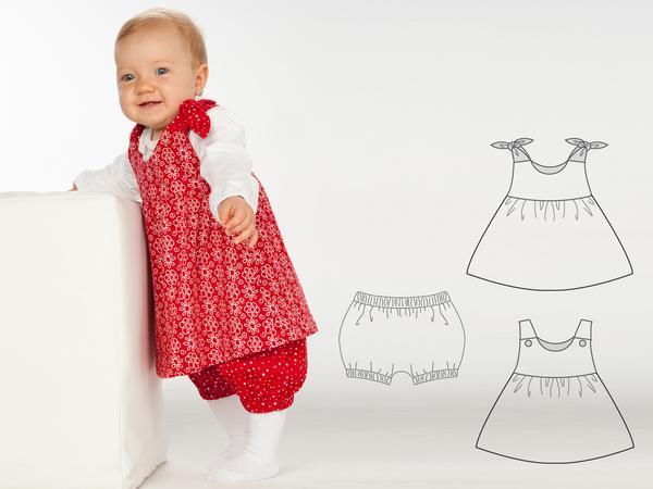 Lipsia Elisa Baby Twin Set Hängerchen Und Pumphose Für Mädchen