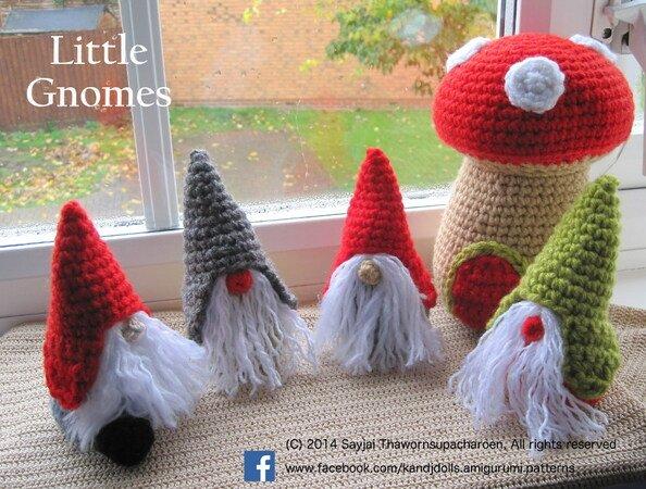 20 Free Amigurumi Gnome Toy Softies Crochet Patterns | Christmas crochet  patterns, Crochet xmas, Holiday crochet | 450x594
