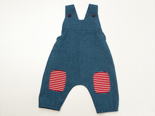 ARTURO Baby girls + boys overall dungaree pattern pdf with shoulder straps and yoke on the back. Toddler jumpsuit for summer + winter
