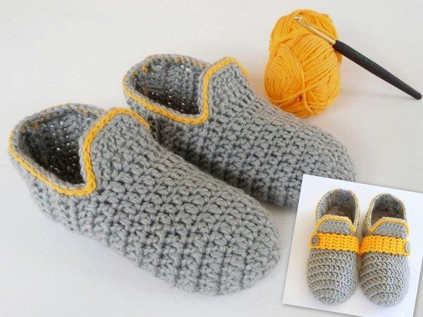 Hüttenschuhe Kinder Hausschuhe Gr. 33 Strickrand Schuhe