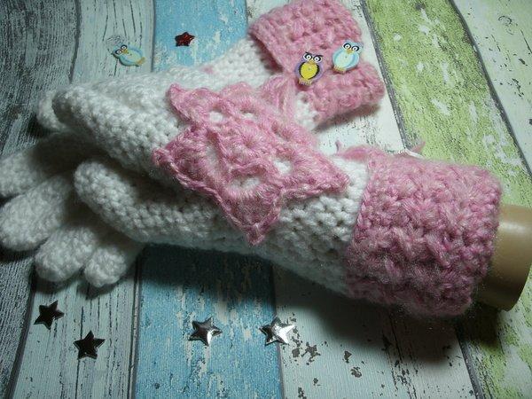 Handschuhe häkeln - Fingerhandschuhe häkeln