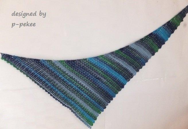 Dreieckstuch Mit Sockenwolle Schräg Häkeln