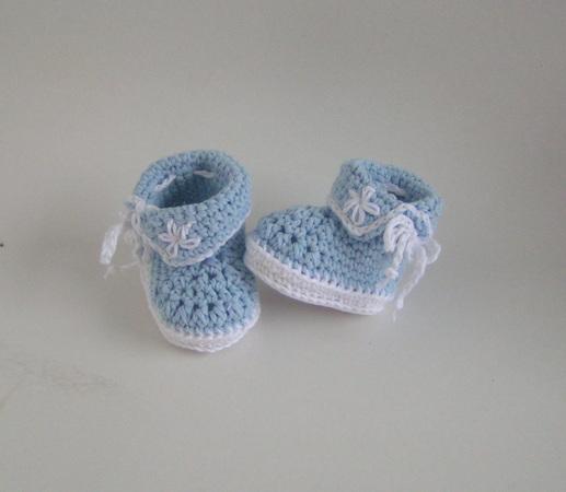 Babystiefel häkeln--Baby-Booties--Baby-Schuhe