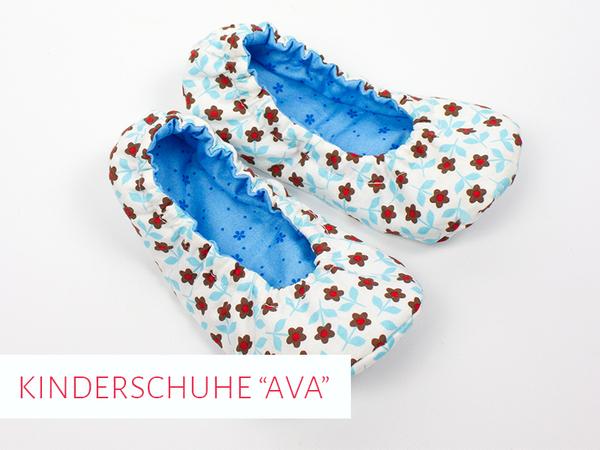 """Schnittmuster-E-Book: Kinder-Hausschuhe """"Ava"""""""