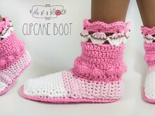 Cute as a button Cupcake Boots Anleitung