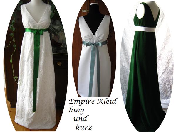 Empire kleid schnittmuster