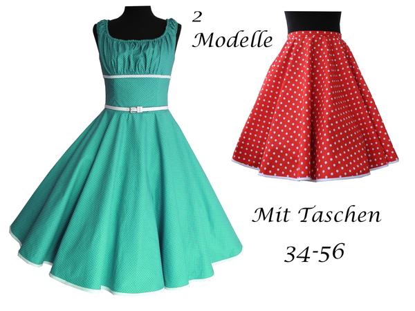 Schnittmuster+Bild Nähanleitung:2 Modelle= Petticoatkleid und ...