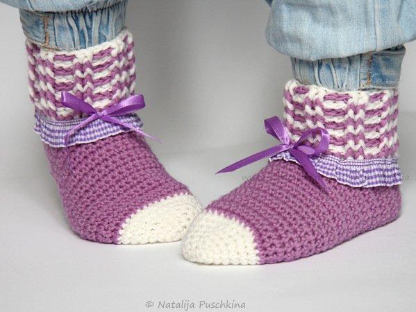 Socken Für Kinder Häkeln Rippenmuster Häkeln