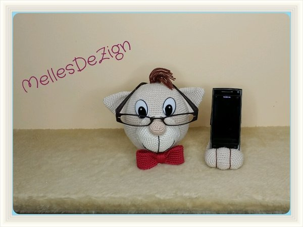 Brillenhalter häkeln // Handyhalter häkeln
