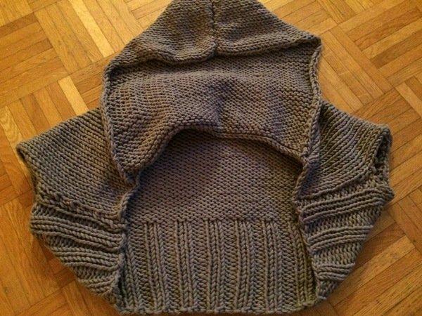 Bolero stricken - kurze Jacke für Kinder