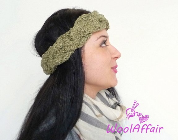 Strickanleitung #108 Headband Strick-Stirnband DIY