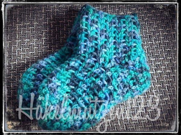 Socken häkeln /// luftig + angenehm zu tragen