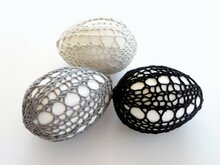 Knitting Pattern - Easter Eggs Shell #1 - No.50E