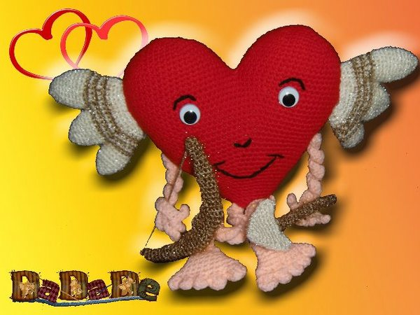 Herz Amor Mit Pfeil Und Bogen Häkelanleitung Für Verliebte Von