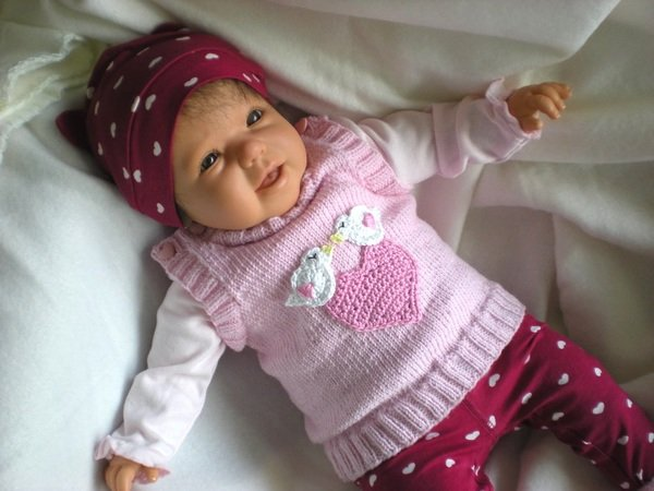 Baby Pulli Stricken ärmellos Pullunder
