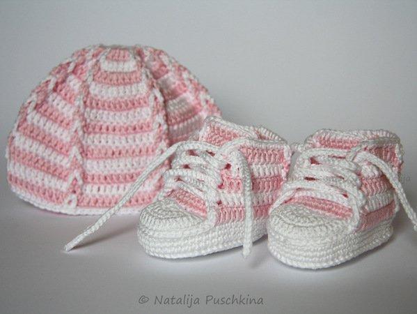 Babyset häkeln // Babyschuhe + Babymütze DIY