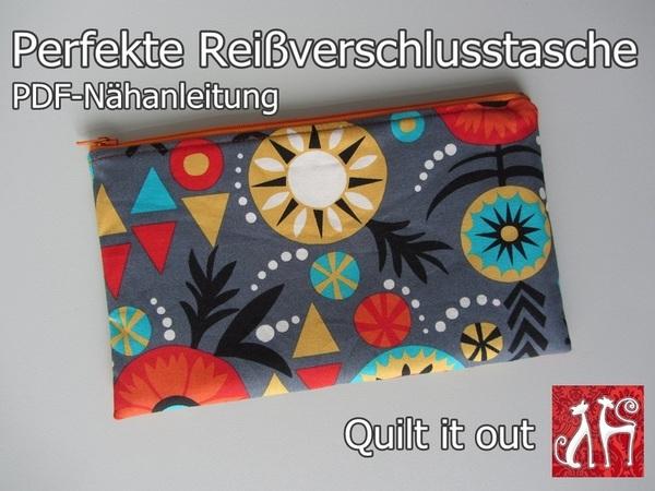 Nähanleitung Perfekte Reißverschlusstasche Tasche
