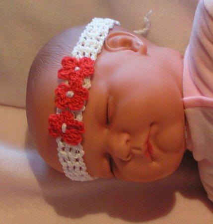 Häkelanleitung Baby-Stirnband