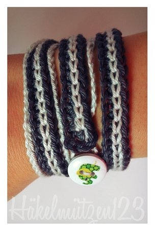 gratis Armband häkeln--Wickelarmband häkeln