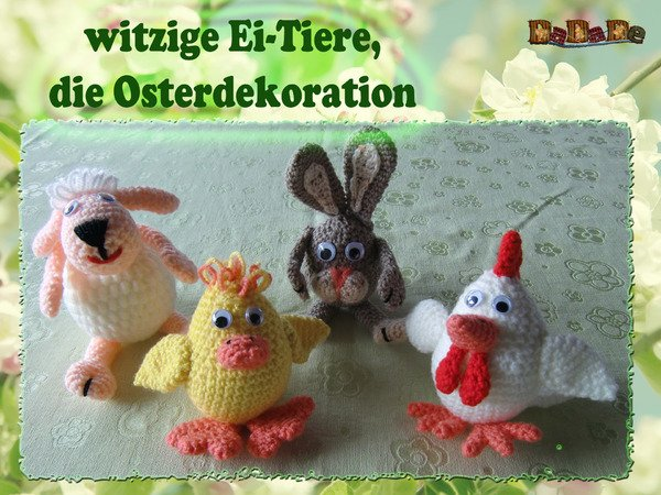 mini tiere h keln amigurumi in ei form. Black Bedroom Furniture Sets. Home Design Ideas