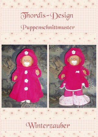 4 Schnittmuster für Puppen - Winterzauber