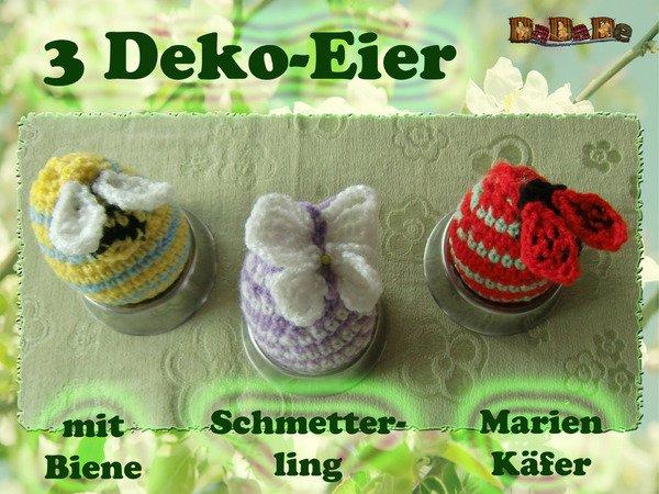 Ostereier, Deko – Eier für Ostern, Häkelanleitung von DaDaDe