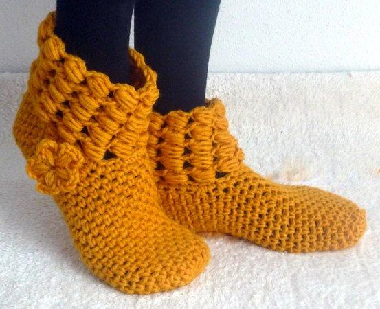Hüttenschuhe Häkeln Socken Hausschuhe