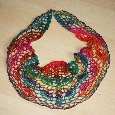 Lace Tuch Häkeln Mit Regenbogen Muster
