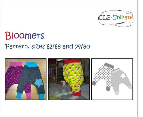 Bloomers, sizes 62/68 and 74/80