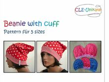 Beanie with cuff, 5 sizes