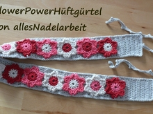 Häkelanleitung Hüftgürtel Flowerpower * 2-in-1 Option * Hippie-Stil
