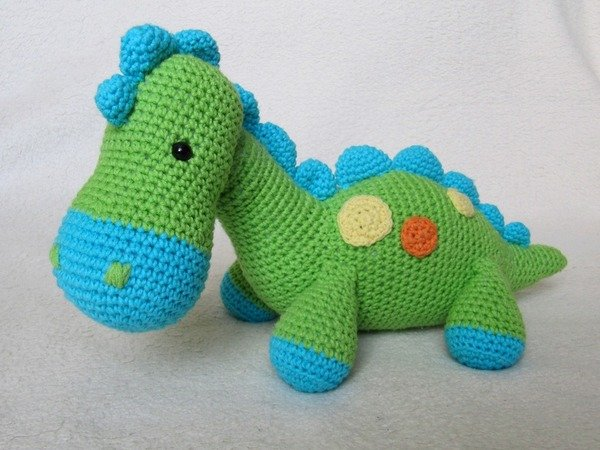 Dinosaurier häkeln / satt++zufrieden//DIY-PDF