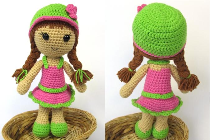 Puppe häkeln - Mädchen-Puppe // Amigurumi
