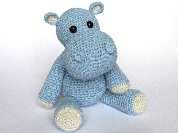 Crochet Pattern Free Hippo : Nilpferd h?keln // Amigurumi Nilpferd h?keln