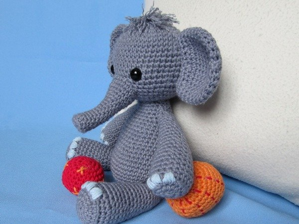 Elefant Häkeln Ca 30 Cm Hoch Süß Frech