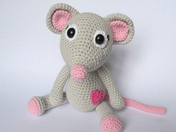 Maus häkeln--super Geschenk für Verliebte