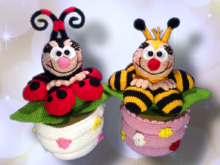 Ladybug and bee  - Crochet Pattern from Diana´s kleiner Häkelshop